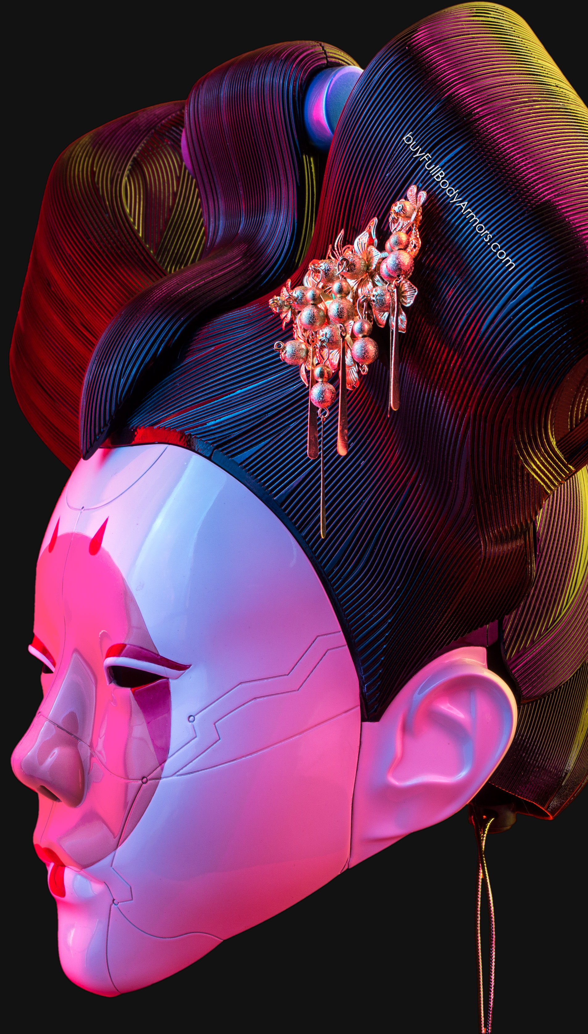 ghost in the shell 2017 robotic geisha life-size wearable costume
